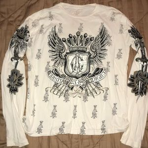 100% Authentic Christian Audigier Long Sleeve